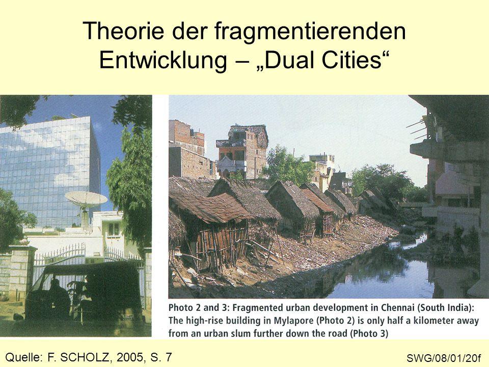 Theorie der fragmentierenden Entwicklung – Dual Cities Quelle: F. SCHOLZ, 2005, S. 7 SWG/08/01/20f