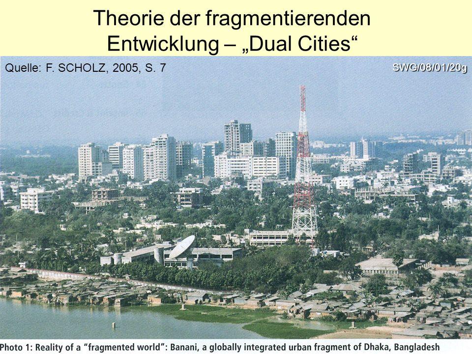 Theorie der fragmentierenden Entwicklung – Dual Cities Quelle: F. SCHOLZ, 2005, S. 7SWG/08/01/20g
