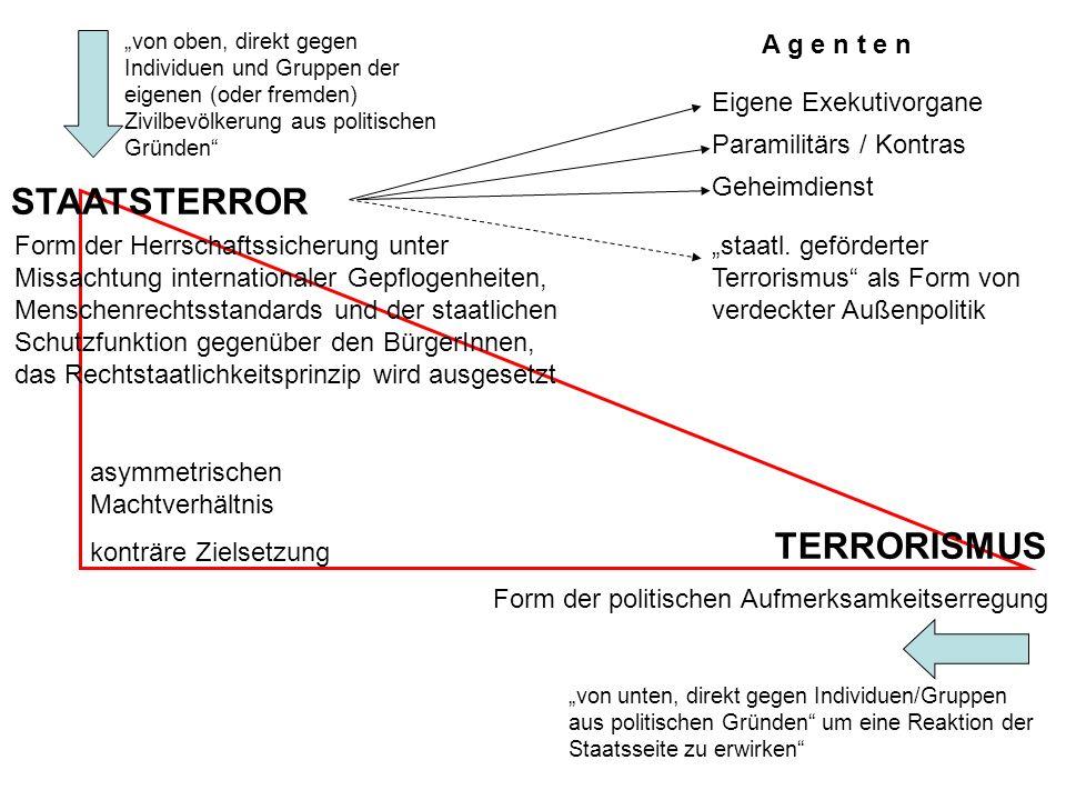 Das Erregen von Aufmerksamkeit: Schock, Horror, Angst oder Abscheu Die Botschaft verstehen, was wollen die Terroristen.