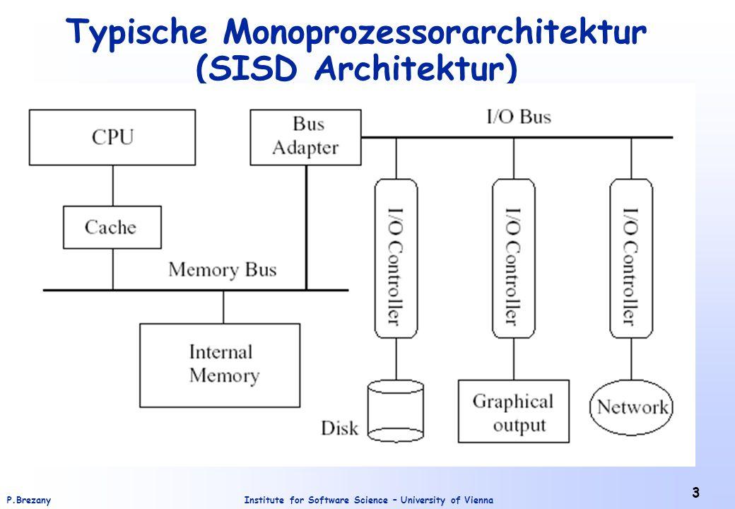 Institute for Software Science – University of ViennaP.Brezany 4 Feldprozessor (SIMD Architektur)