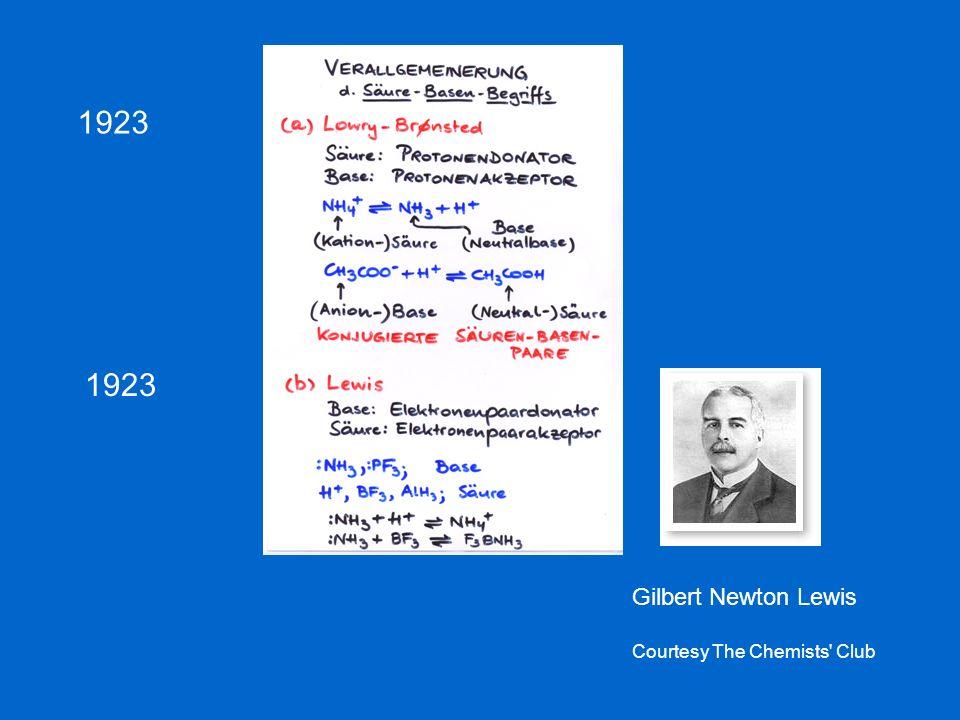 1923 Gilbert Newton Lewis Courtesy The Chemists' Club