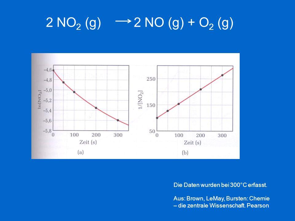 Die Daten wurden bei 300°C erfasst. Aus: Brown, LeMay, Bursten: Chemie – die zentrale Wissenschaft. Pearson