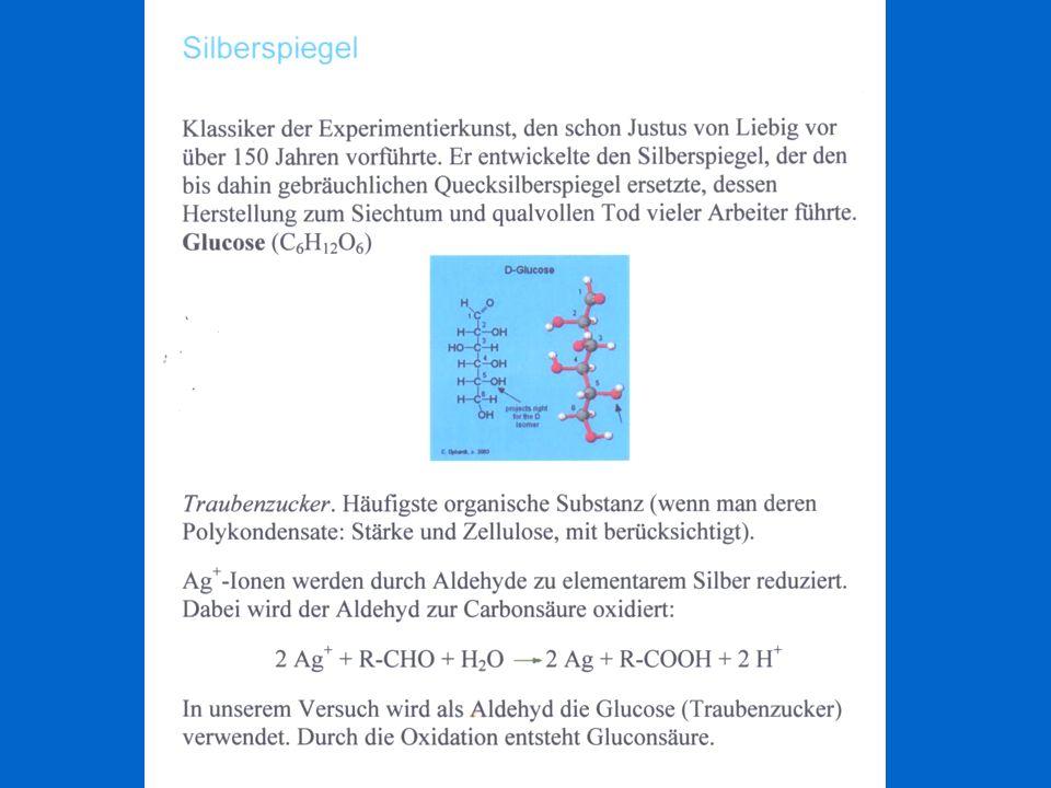 Zn 2+ + 2 e - Zn E 0 = - 0,763 V Vorzeichen wechseln: Reaktion kehrt sich um Cu 2+ + 2 e - Cu E 0 = 0,340 V Zn + Cu 2+ Cu + Zn 2+ E 0 = 0,763 + 0,340 = 1,10 V