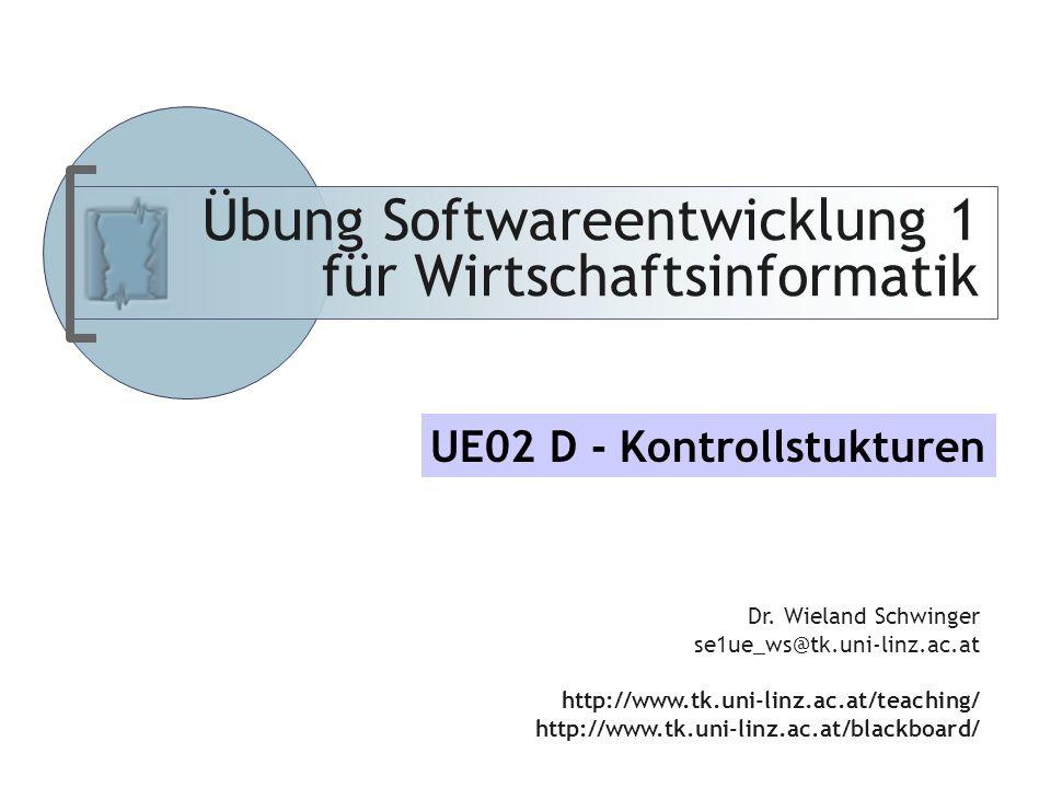 Abteilung für Telekooperation Folie-12 Softwareentwicklung I UE Schwinger Regeln von DeMorgan .