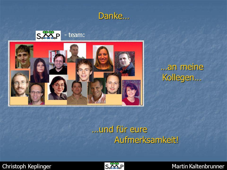Christoph Keplinger Martin KaltenbrunnerDanke… …an meine Kollegen… …und für eure Aufmerksamkeit! - team: