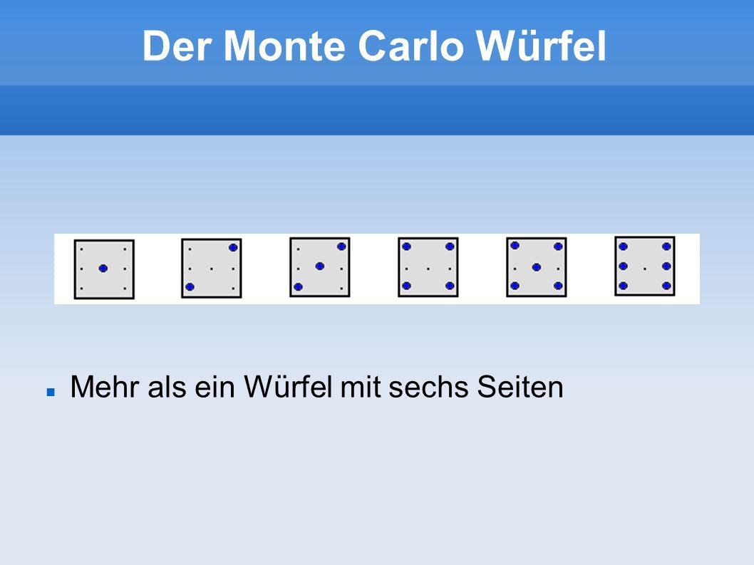 Der Monte Carlo Würfel Mehr als ein Würfel mit sechs Seiten