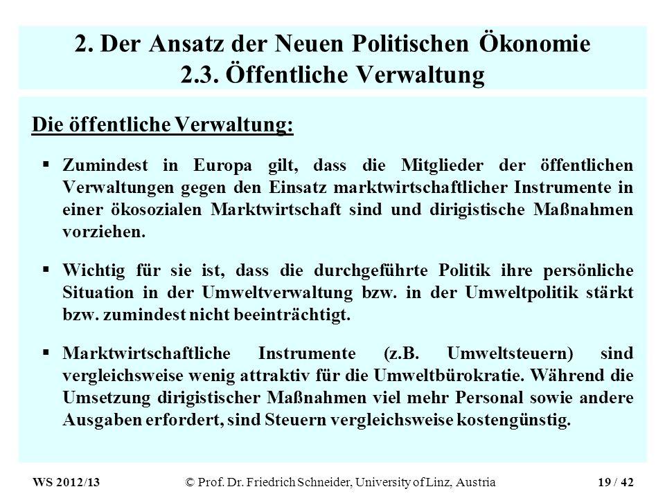 2. Der Ansatz der Neuen Politischen Ökonomie 2.3.