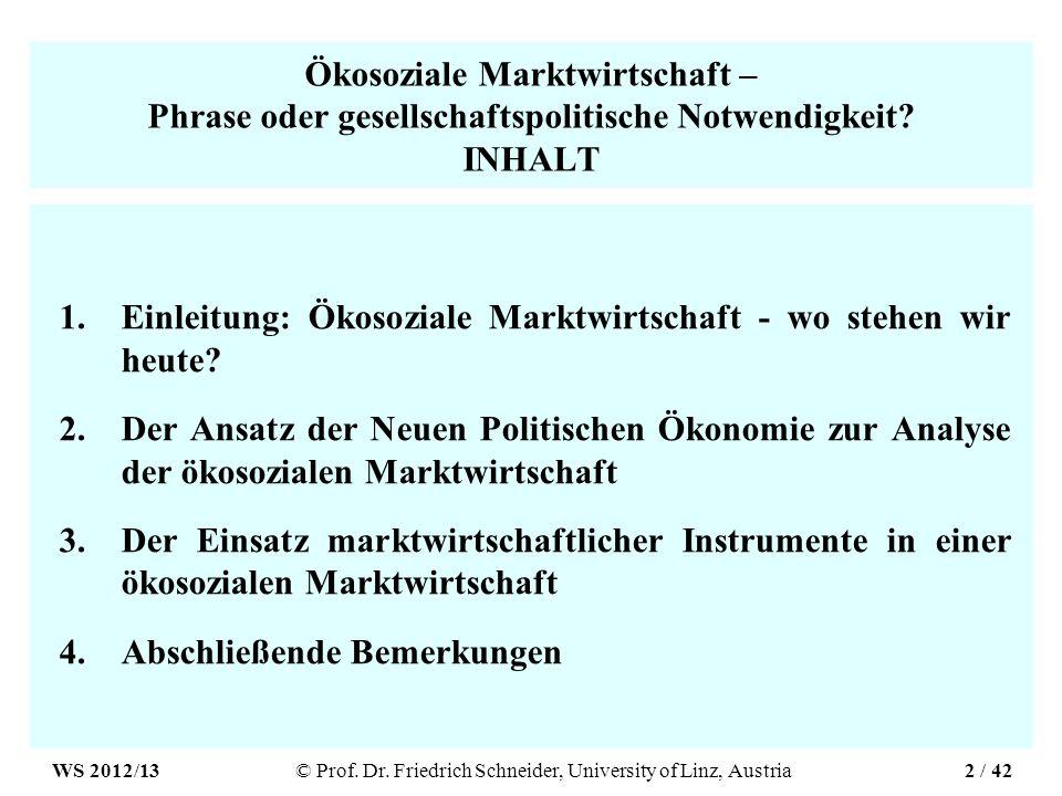Ökosoziale Marktwirtschaft – Phrase oder gesellschaftspolitische Notwendigkeit.
