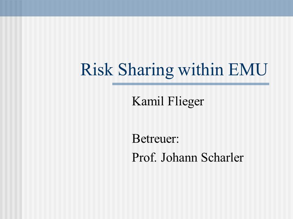 Risk Sharing within EMU Kamil Flieger Betreuer: Prof. Johann Scharler