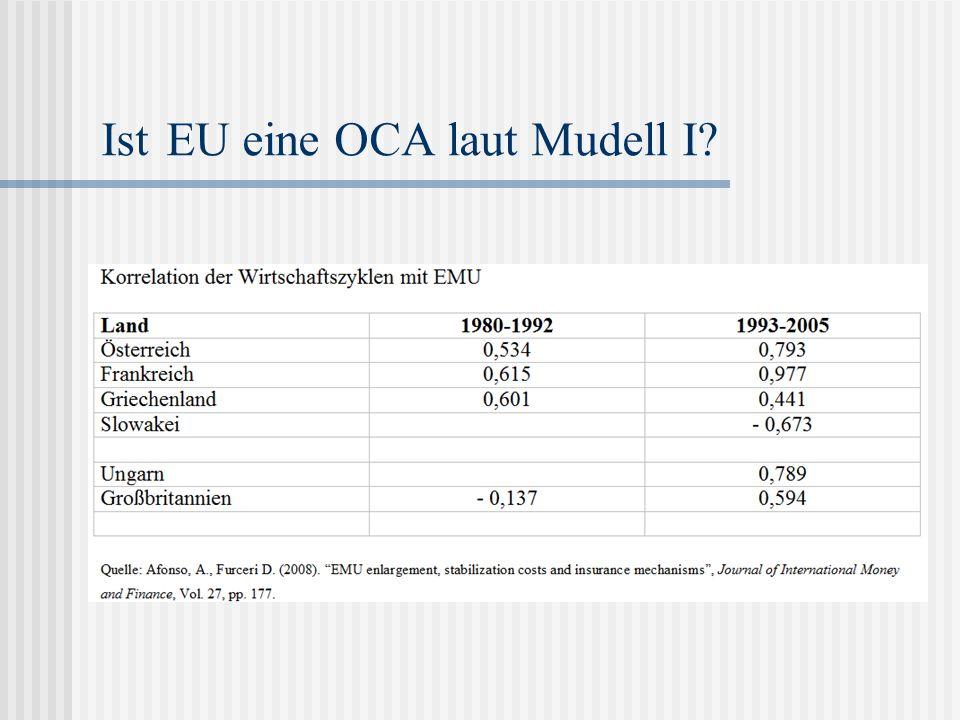 Ist EU eine OCA laut Mudell I?