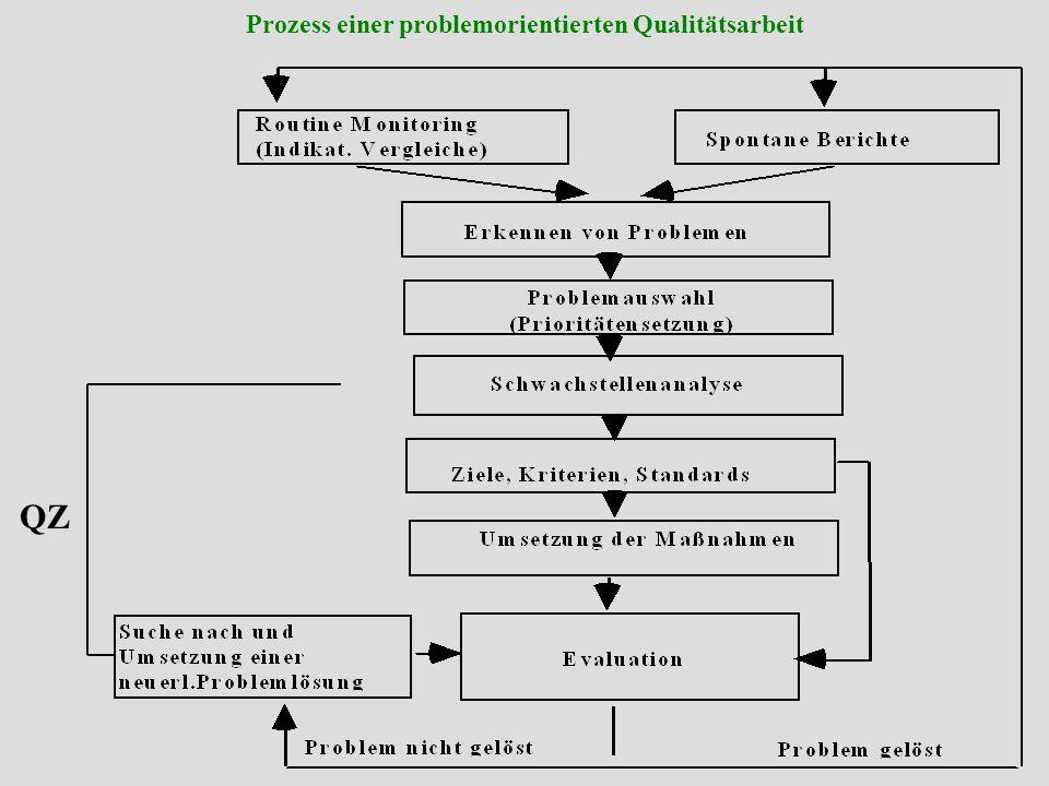 Institut für Pflege- und Gesundheitssystemforschung, Universität Linz Seminar: Methoden und Techniken interne QS Schritte zur method.