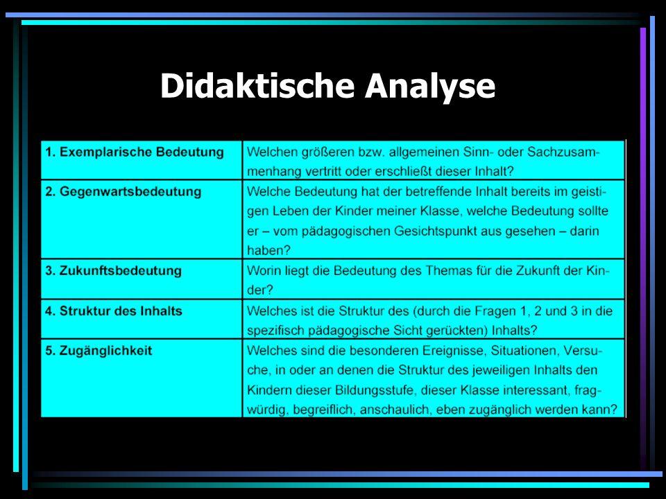Didaktische Analyse