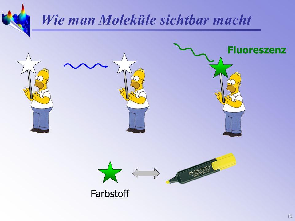 10 Wie man Moleküle sichtbar macht Farbstoff Fluoreszenz