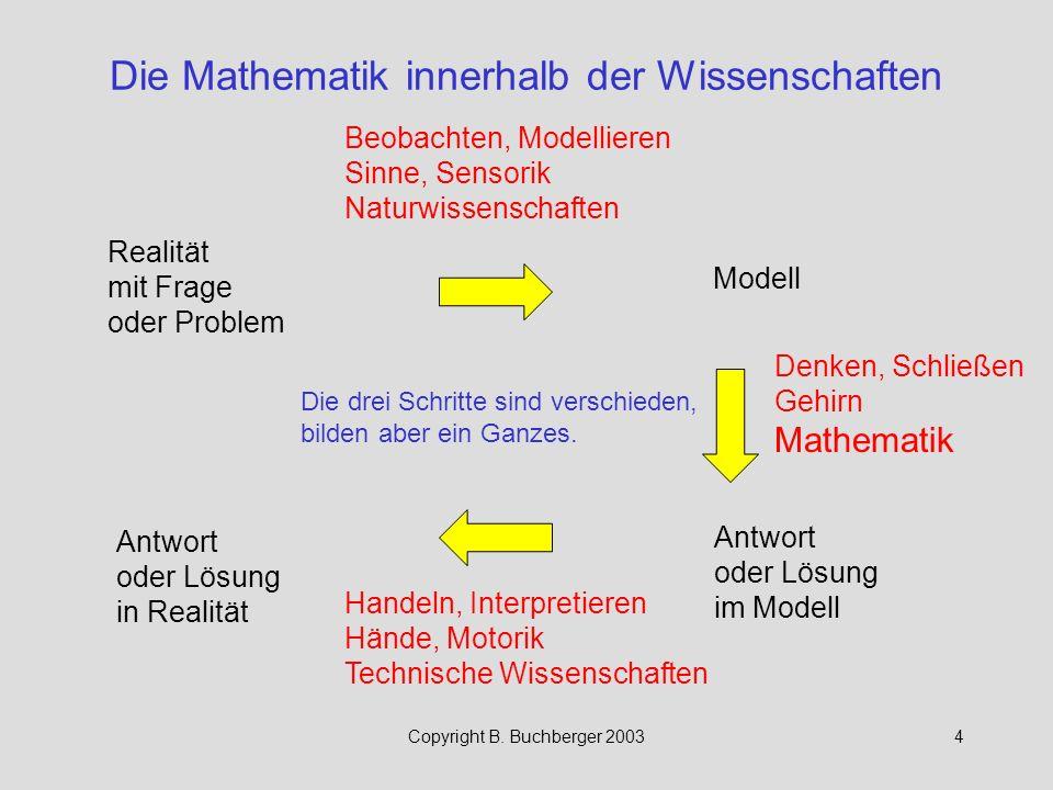 Copyright B.Buchberger 200325 Methodik der Mathematik für FH, Typ F.