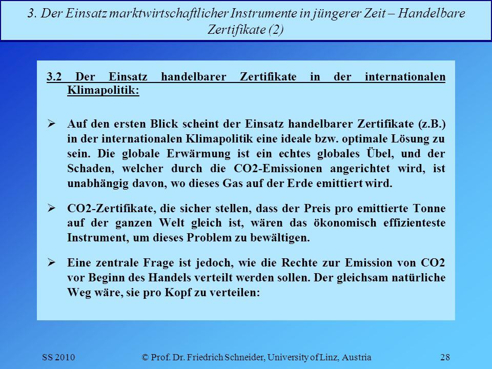 SS 2010© Prof.Dr. Friedrich Schneider, University of Linz, Austria28 3.