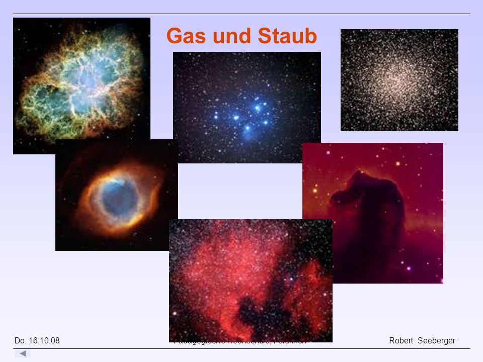 Do. 16.10.08 Pädagogische Hochschule, Feldkirch Robert Seeberger Gas und Staub