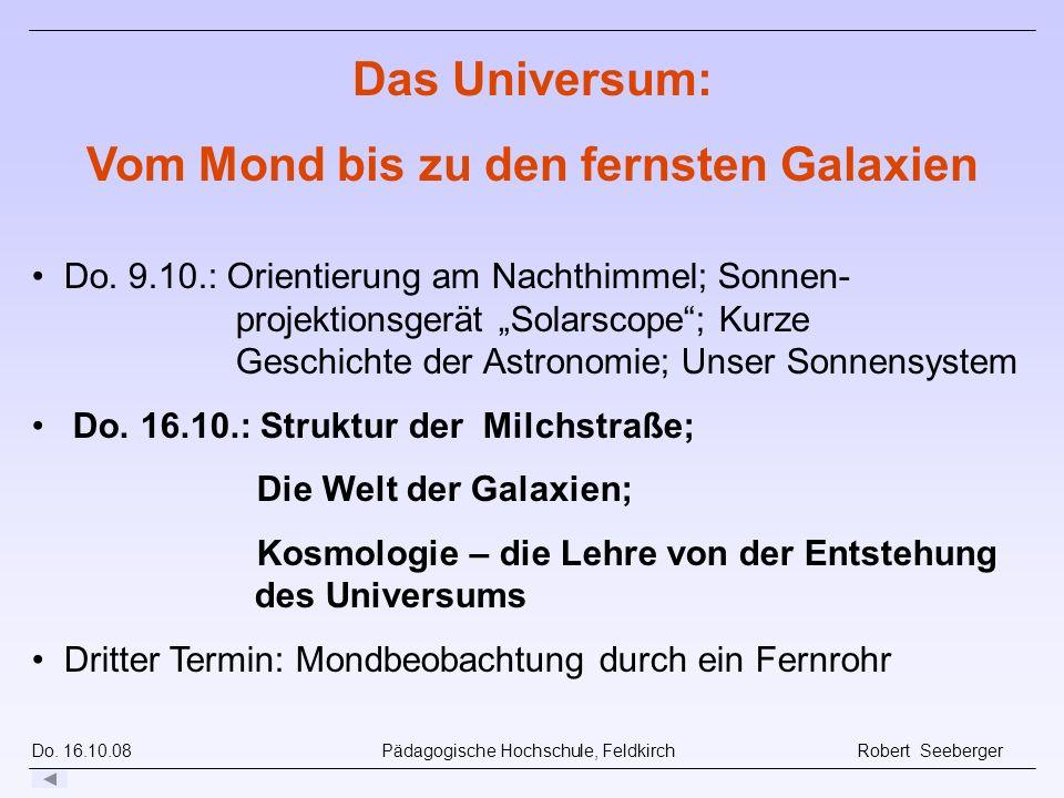 Do.16.10.08 Pädagogische Hochschule, Feldkirch Robert Seeberger Do.