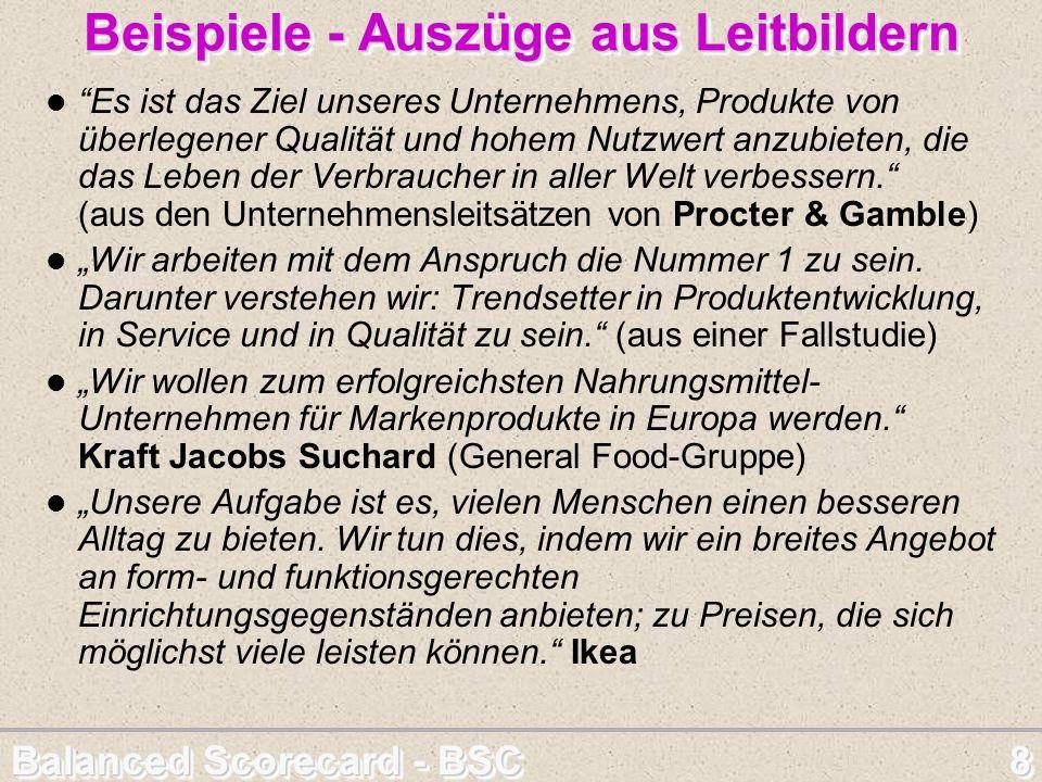 Balanced Scorecard - BSC 39 LERN- & ENTWICKLUNGS - Perspektive Quelle: http://www.tse-hamburg.de/Papers/Management/BSC Besondere Gefahr.