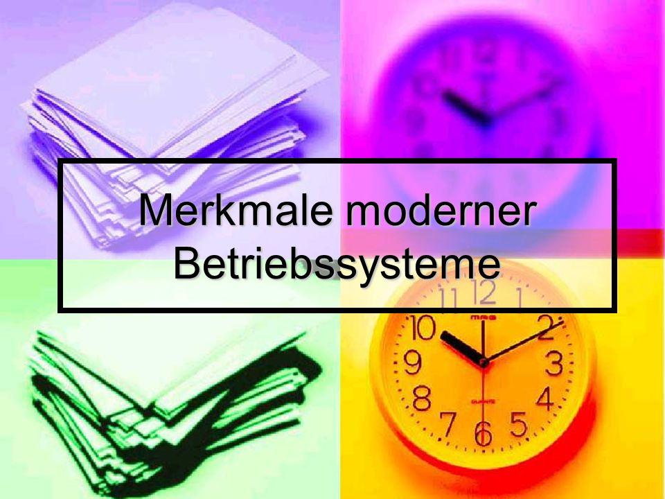 Mikrokernel – Architektur Mikrokernel – Architektur Multithreading Multithreading Symmetrischer – Mehrprozessorbetrieb Symmetrischer – Mehrprozessorbetrieb Verteilte Betriebssysteme Verteilte Betriebssysteme Objektorientierter Aufbau Objektorientierter Aufbau