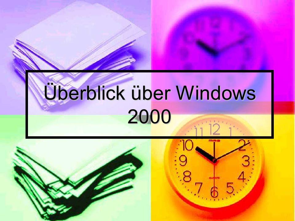 Überblick über Windows 2000