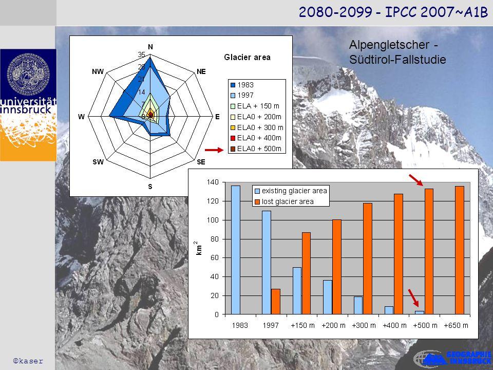 2080-2099 - IPCC 2007~A1B ©kaser Alpengletscher - Südtirol-Fallstudie