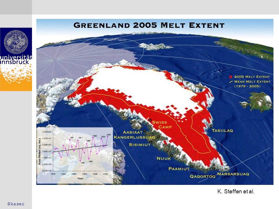 IPCC 2007 – Befund Sea level rise: the contribution of the cryosphere IPCC 2007 ©kaser