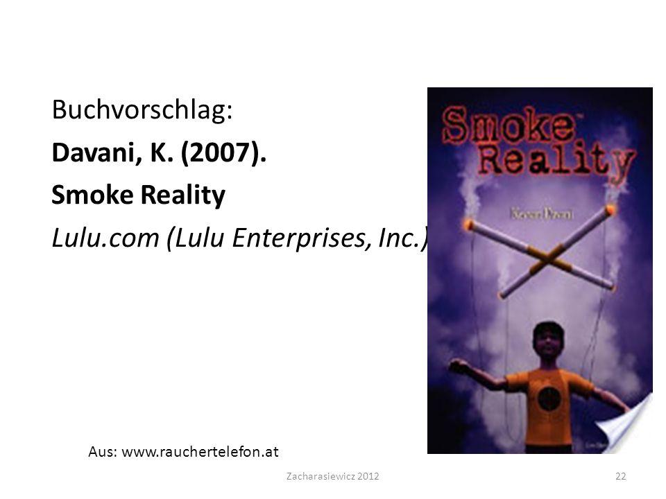 Buchvorschlag: Davani, K.(2007).