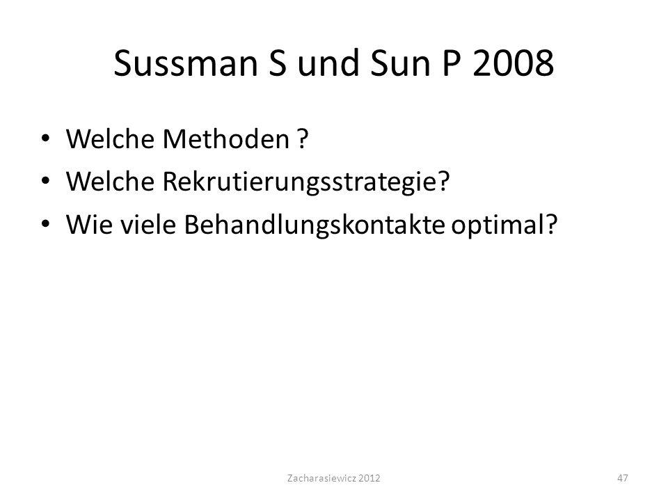 Sussman S und Sun P 2008 Welche Methoden .Welche Rekrutierungsstrategie.