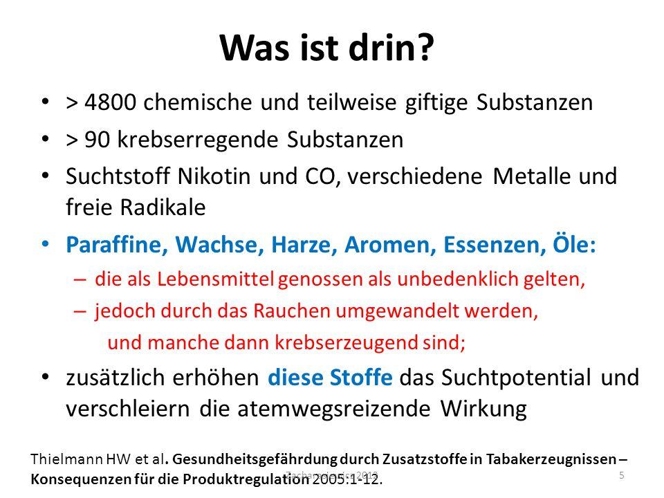 Fragebogen HONC (Hooked on Nicotin Checklist) entwickelte Prof.
