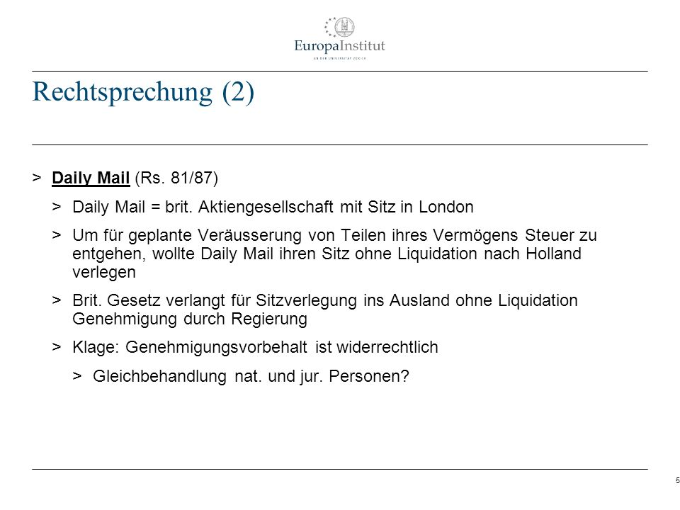 5 Rechtsprechung (2) > Daily Mail (Rs.81/87) > Daily Mail = brit.