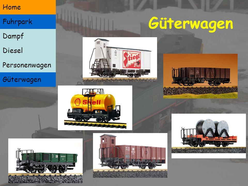 Personenwagen Dampf Diesel Personenwagen Güterwagen Home Fuhrpark