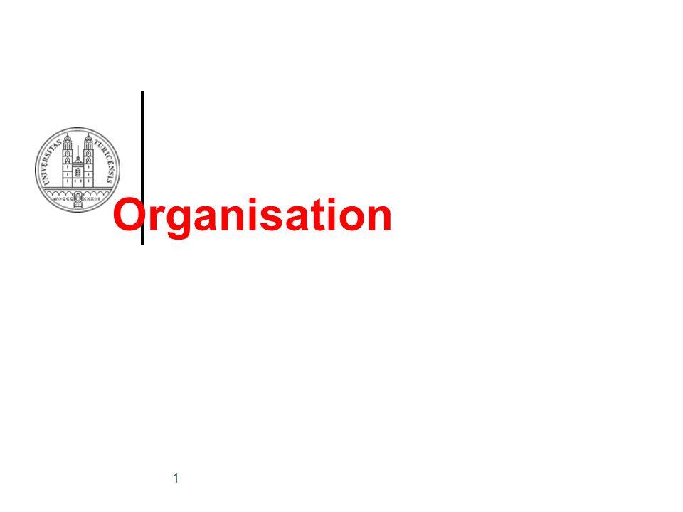 1 Organisation