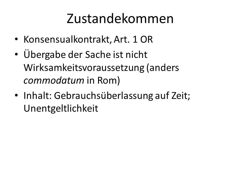Zustandekommen Konsensualkontrakt, Art.