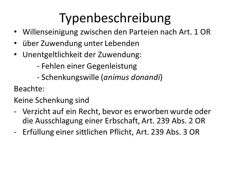 Sittenwidrige Schenkung, Art.20 OR. BGE 136 III 142 Z war Anwalt in Genf und eng mit H.