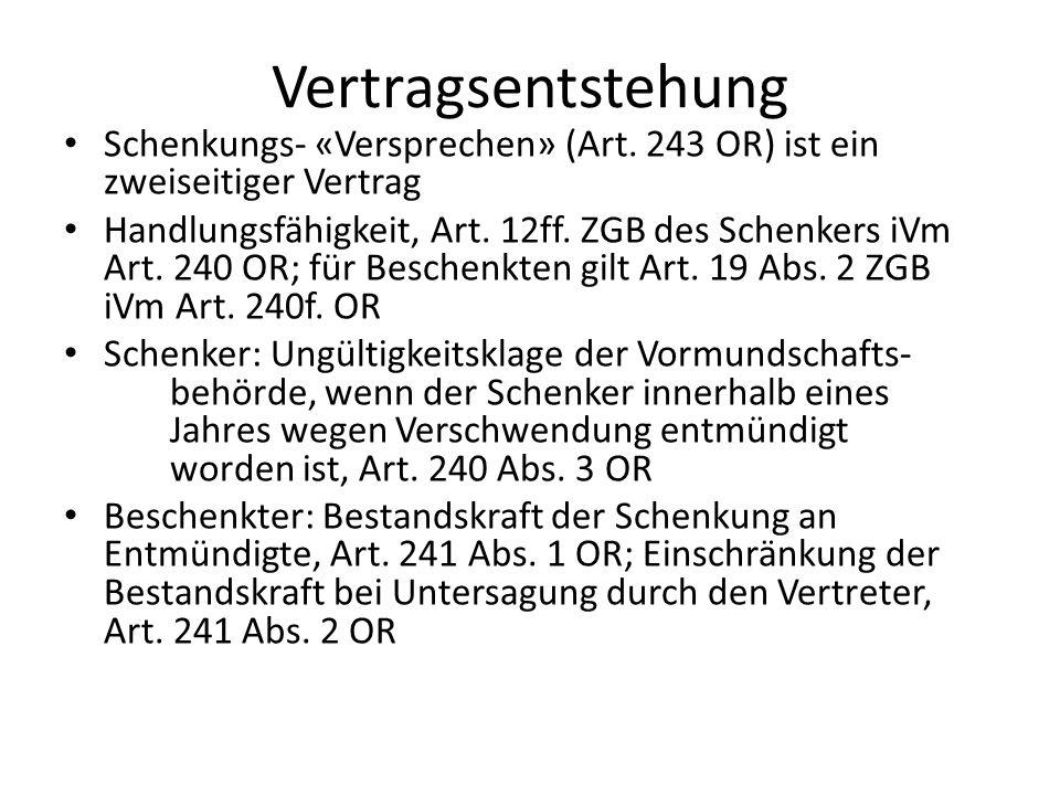 Formbedürftigkeit Grundsatz: Schriftform, Art.243 Abs.