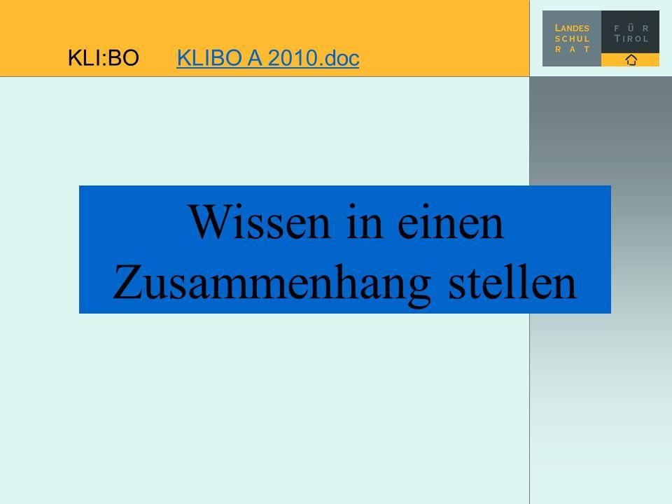 Wissen in einen Zusammenhang stellen KLI:BO KLIBO A 2010.docKLIBO A 2010.doc