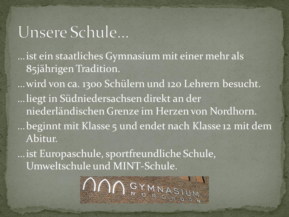 …ist ein staatliches Gymnasium mit einer mehr als 85jährigen Tradition. …wird von ca. 1300 Schülern und 120 Lehrern besucht. …liegt in Südniedersachse