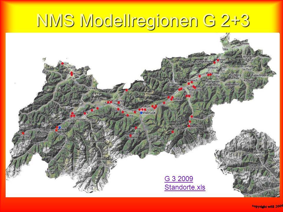 NMS Modellregionen G 2+3 G 3 2009 Standorte.xls