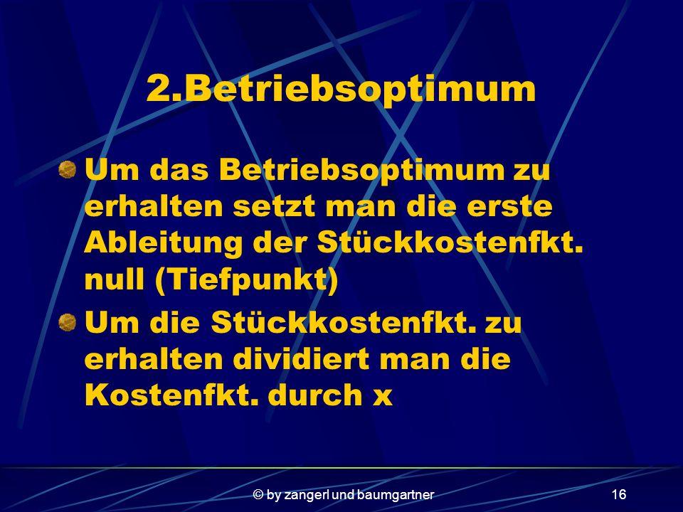 © by zangerl und baumgartner15 Nun lässt man von Excel eine polynomische Funktion annähern