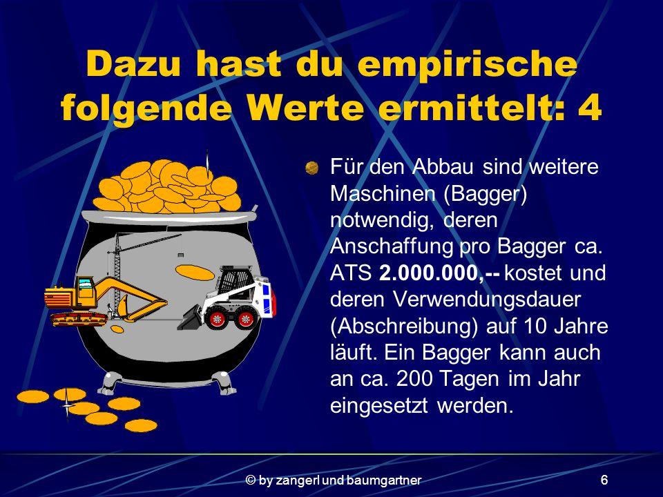 © by zangerl und baumgartner16 2.Betriebsoptimum Um das Betriebsoptimum zu erhalten setzt man die erste Ableitung der Stückkostenfkt.