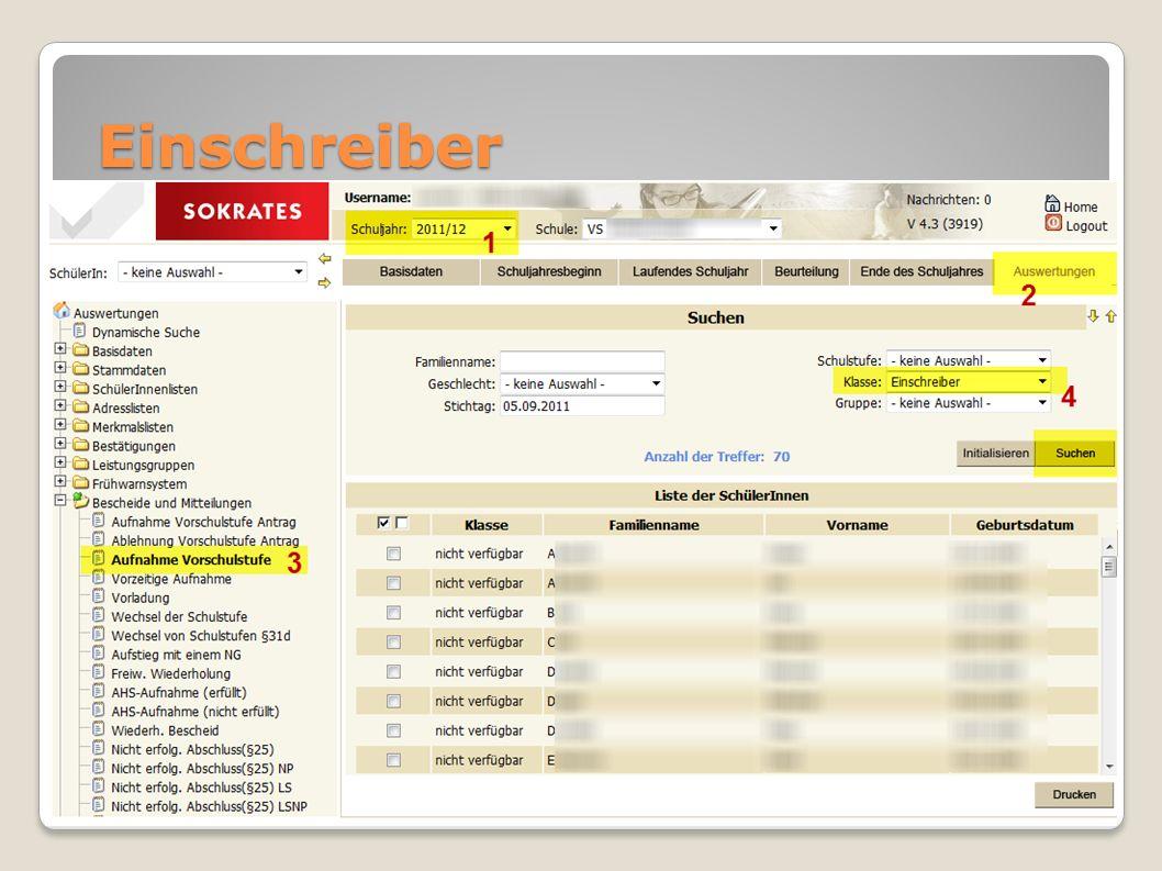 Einschreiber Artikel onlineArtikel online - Vorlagendatei richtig ausfüllen (lassen)Vorlagendatei Pflege von Adressen, Tel. etc. Bescheide (Vorschule,