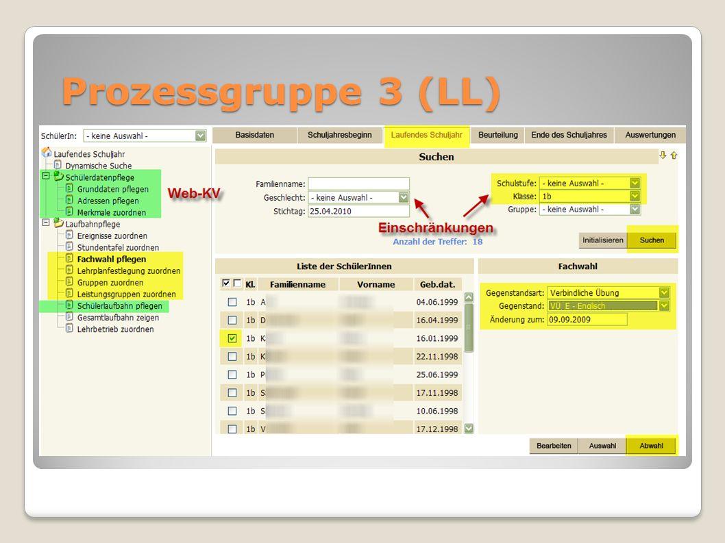 Prozessgruppe 3 (LL)
