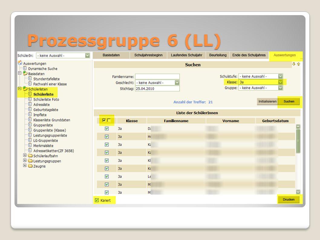 Prozessgruppe 6 (LL)