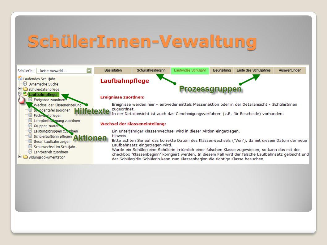 Grundregeln … Nachlese Was ist neu.Stimmen Basisdaten (Schule, Dir., KV).
