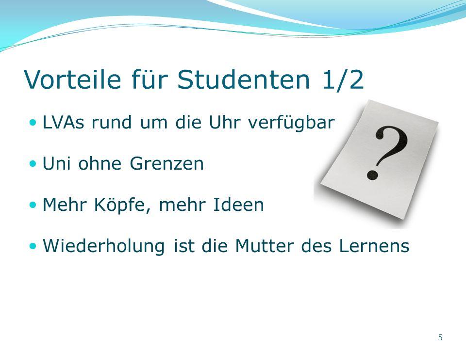 Vorteile für Studenten 2/2 Gemeinsam mehr erreichen – Plattform für Diskussionen und Wissensaustausch Authentisches Look & Feel Wieder um eine Barriere weniger ;) TU Wien – mehr als nur eine Uni 6