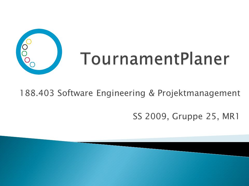 188.403 Software Engineering & Projektmanagement SS 2009, Gruppe 25, MR1