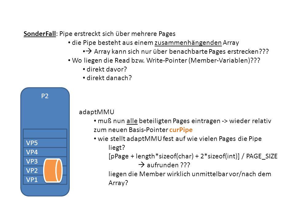 SonderFall: Pipe erstreckt sich über mehrere Pages die Pipe besteht aus einem zusammenhängenden Array Array kann sich nur über benachbarte Pages erstrecken .
