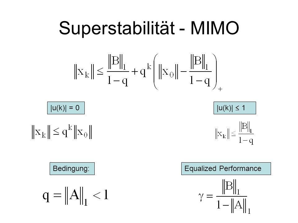 Erweiterung auf MIMO Abschätzungen Maximal 1 Definition: ||A|| = q Induktion