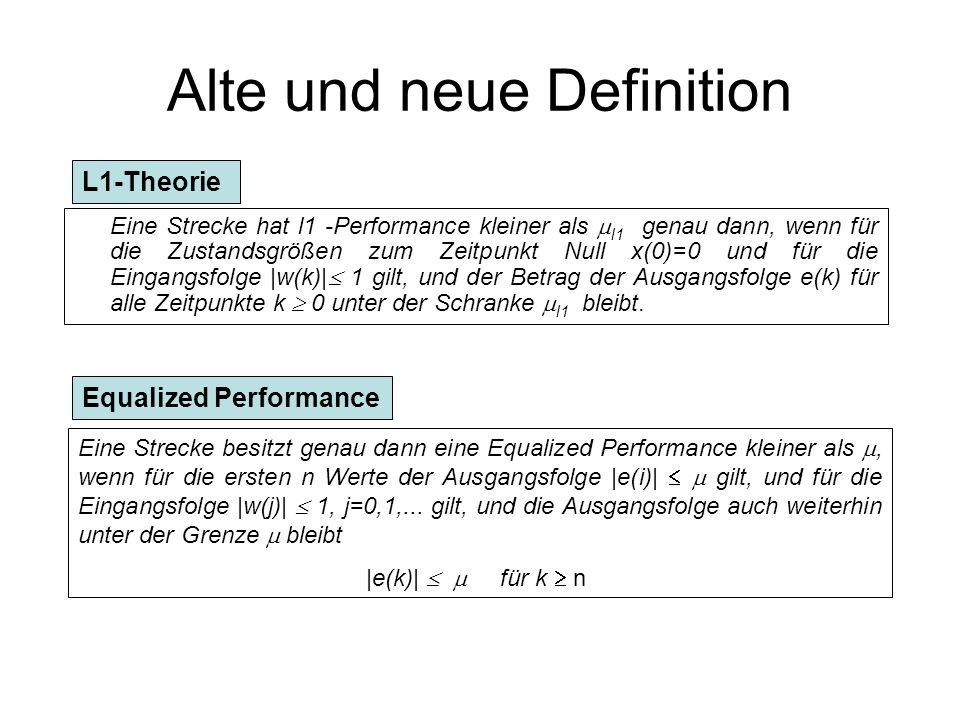 Beispiel mit u(k) Beschränkung Beispiel der Form : Forderung: |u(k)| 80 !.