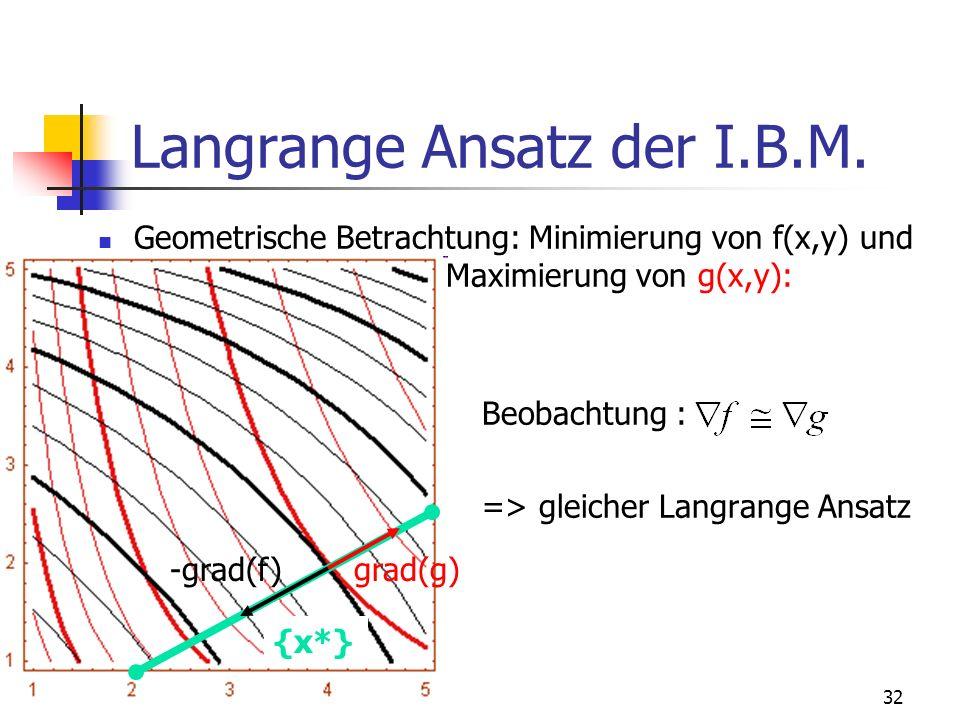 32 Langrange Ansatz der I.B.M.